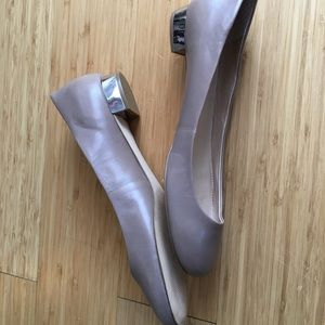 Marc Fisher Shoes - Mark fisher taupe silver heel flats